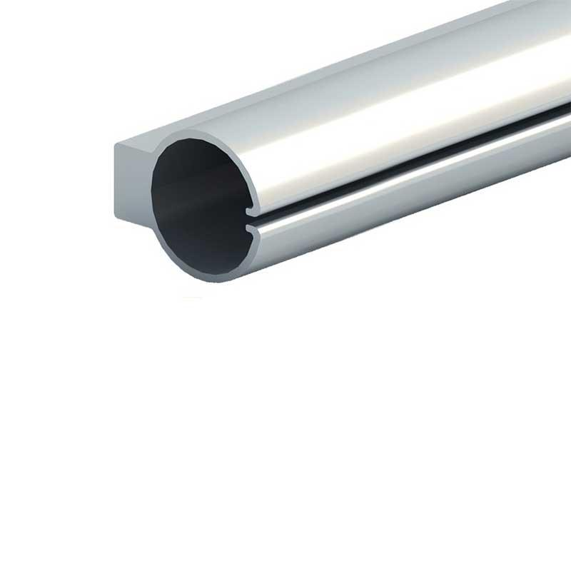 Aluminum profile for lifting clothes rod
